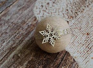 Dekorácie - vianočná guľa Hviezda - 7523839_