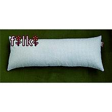 Úžitkový textil - FILKI šupkový vankúš na spanie 55 cm (bielo-béžové káro 20 cm) - 7521504_