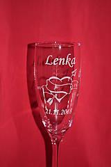 Nádoby - Svadobné poháre + gravirovanie 29 - 7523378_