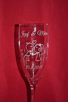 Nádoby - Svadobné poháre + gravirovanie 30 - 7523379_