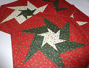 Úžitkový textil - Vianočné prestieranie - červené. - 7522433_