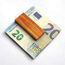 Tašky - Cédrová spona na peniaze - 7523974_