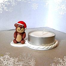 Svietidlá a sviečky - Svietniky na zákazku (medvedík) - 7525646_