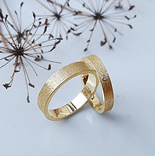 Prstene - Minimalist wedding bands - 7529943_