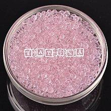 Korálky - Korálky- sklenené brúsené 4x3mm -rosaline - 7528137_