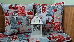 Úžitkový textil - štola a vankusiky pre pani Margaretu - 7528495_