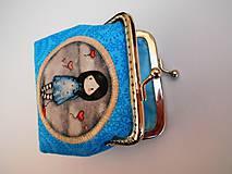 Peňaženky - Minipeňaženka modrá - 7529876_