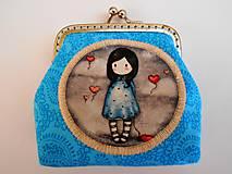 Peňaženky - Minipeňaženka modrá - 7529877_