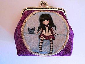 Peňaženky - Minipeňaženka fialová - 7529894_