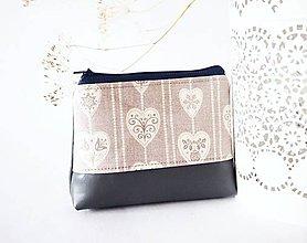 Taštičky - Kozmetická taštička malá - béžovo-sivá - 7526640_