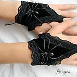 - Gotické rukavičky s pavúkom - 7530850_