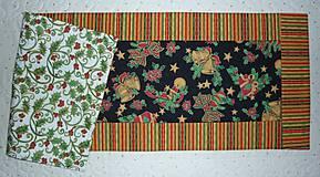Úžitkový textil - Obrus, štóla na stôl vianočná 82x29cm - 7528260_