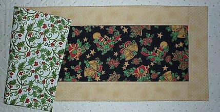 Úžitkový textil - Obrus, štóla na stôl vianočná 82,50x31cm - 7528207_