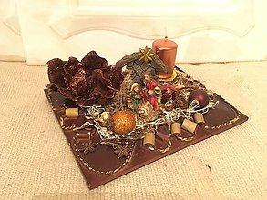 Svietidlá a sviečky - Vianočný svietnik Jasličky medený ZĽAVA - 7529471_