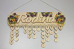 Dekorácie - HM - Kalendár RODINA - 7530454_