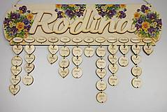 Dekorácie - HM - Kalendár RODINA - 7530457_