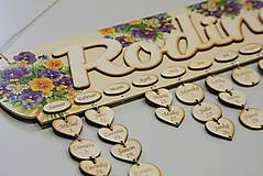 Dekorácie - HM - Kalendár RODINA - 7530458_