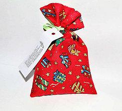 Dekorácie - Nezábudka: Vianočné bylinkové vrecúško do šatníka - 7528048_