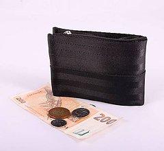 Peňaženky - Pánská peněženka black z bezpečnostních pásů - 7530543_