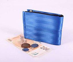 Peňaženky - Pánská peněženka plum z bezpečnostních pásů - 7530557_