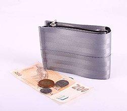 Peňaženky - Pánská peněženka silver z bezpečnostních pásů - 7530585_