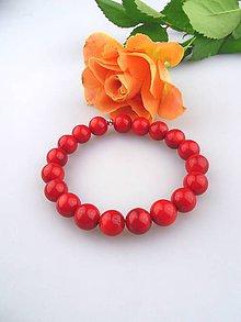 Náramky - červený koral náramok , korálky 10mm - 7527006_