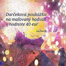 Darčekové poukážky - Darčeková poukážka na maľovaný hodváb-40€ - 7527392_