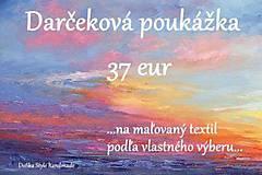 Darčekové poukážky - Darčeková poukážka 37€ - 7530668_