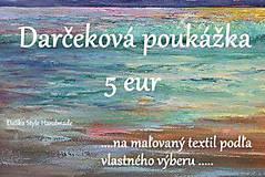 Darčekové poukážky - Darčeková poukážka 5€ - 7530719_