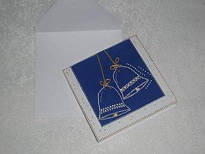 Papiernictvo - Pohľadnica - vianočné zvončeky - 7526407_