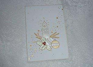 Papiernictvo - Pohľadnica  ...vianočná sviečka... - 7529647_