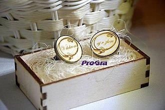 Šperky - Okrúhle drevené manžetky v drevenej krabičke - V dobrom aj v zlom - 7530294_