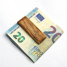 Tašky - Špaltovaná buková spona na peniaze - 7527636_