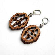 Náušnice - Orechové ornamenty do uška - 7527705_