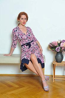 Šaty - Praktické zavinovacie šaty - kvetované - 7529806_
