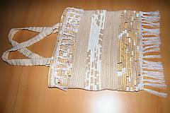 Iné tašky - Tkaná taška svetlohnedá - 7527186_