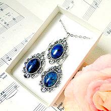 Sady šperkov - Vintage Classic Silver Lapis Lazuli Set / Set šperkov s lazuritom - 7534642_