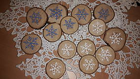 Vianočné drevené peniažky Snehová kráľovna