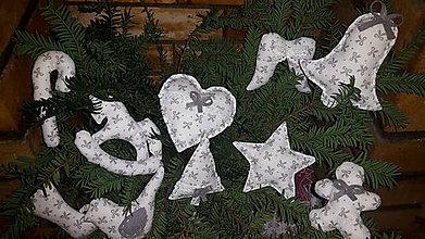 Dekorácie - Vianočné ozdoby biele - 7534465_