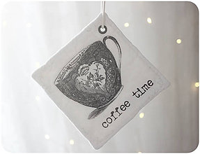 Úžitkový textil - podšálek podložka coffee - 7533563_