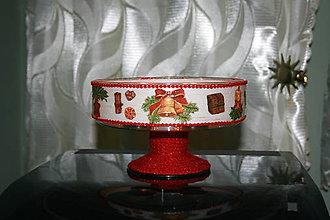 Svietidlá a sviečky - Vianočný svietnik - vianočné motívy - 7531351_