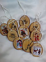 Dekorácie - Drevené vianočné ozdoby - 7534074_