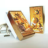 Papiernictvo - Krabička vianočná zlatá - mix2 - 7535103_