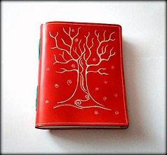 Papiernictvo - Luxusný kožený zápisník ,,Passion Tree\