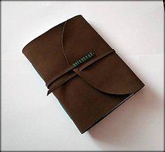 Papiernictvo - Kožený zápisník ,,Dark coffe
