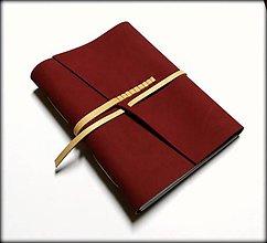 Papiernictvo - Kožený zápisník ,,Passion\