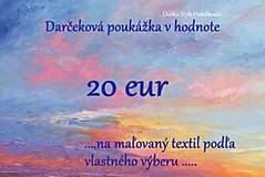 Darčekové poukážky - Darčeková poukážka 20€ - 7531150_