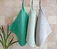 Úžitkový textil - Pletené chňapky - tyrkysové - 7531603_