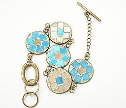 Náramky - Mozaikový náramok - 7533512_