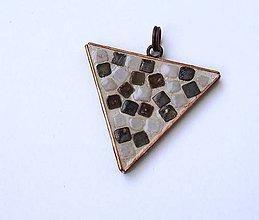 Iné šperky - Mozaikový trojuholník - 7533696_